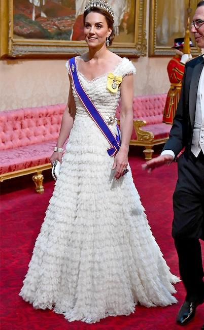 Kate Middleton, State Banquet at Buckingham Palace