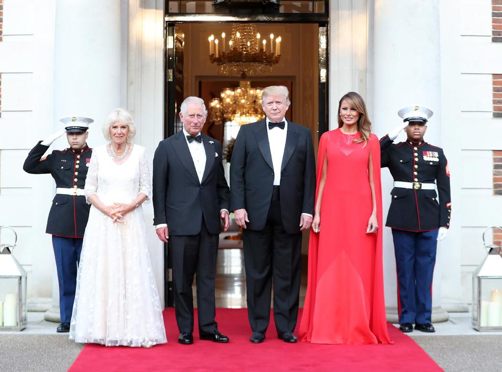 Donald Trump, Melania Trump, Prince Charles, Prince of Wales, Camilla Duchess of Cornwall