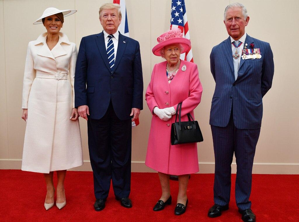 Melania Trump, Donald Trump, Queen Elizabeth, Prince Charles