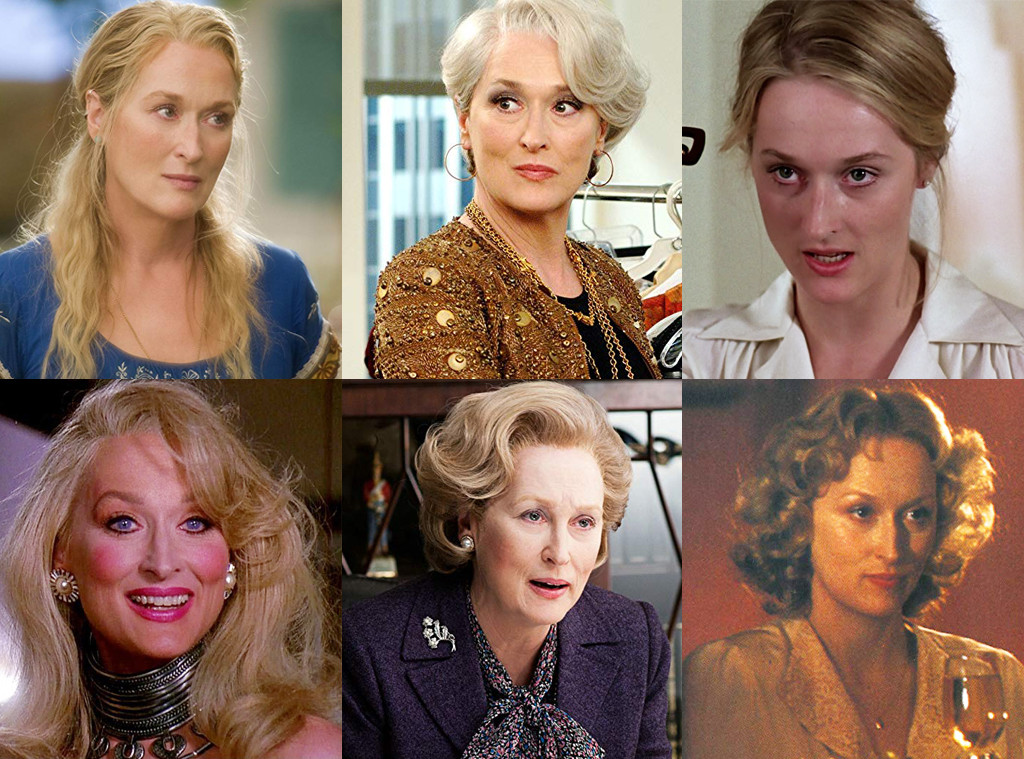 Meryl Streep, Mamma Mia, The Devil Wears Prada, Kramer vs Kramer, Death Becomes Her, Iron Lady, Sophies Choice