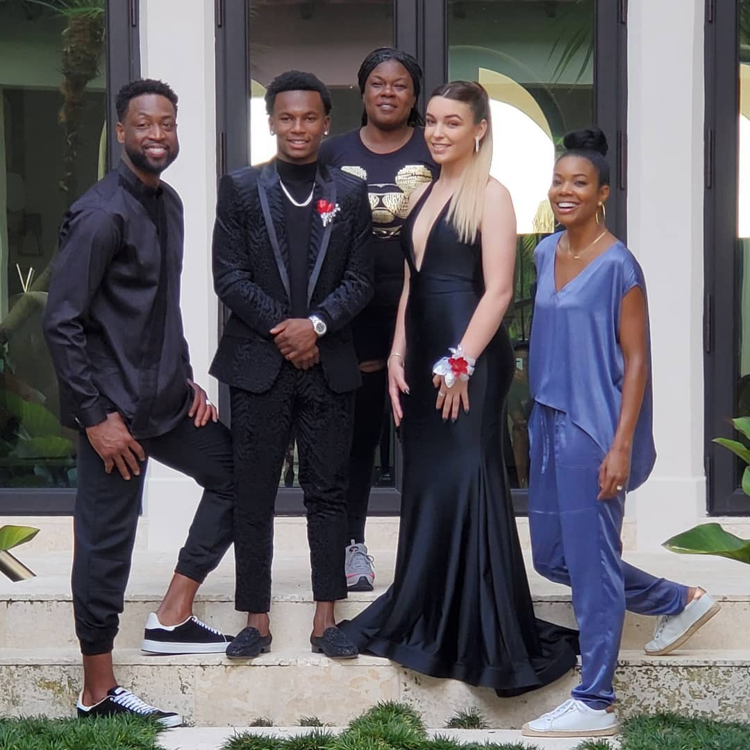 Gabrielle Union and Dwyane Wade from Celebrity Kids at Prom   E! News