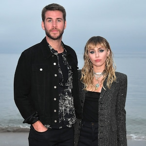 Liam Hemsworth, Miley Cyrus, Saint Laurent Mens Spring Summer 20 Show