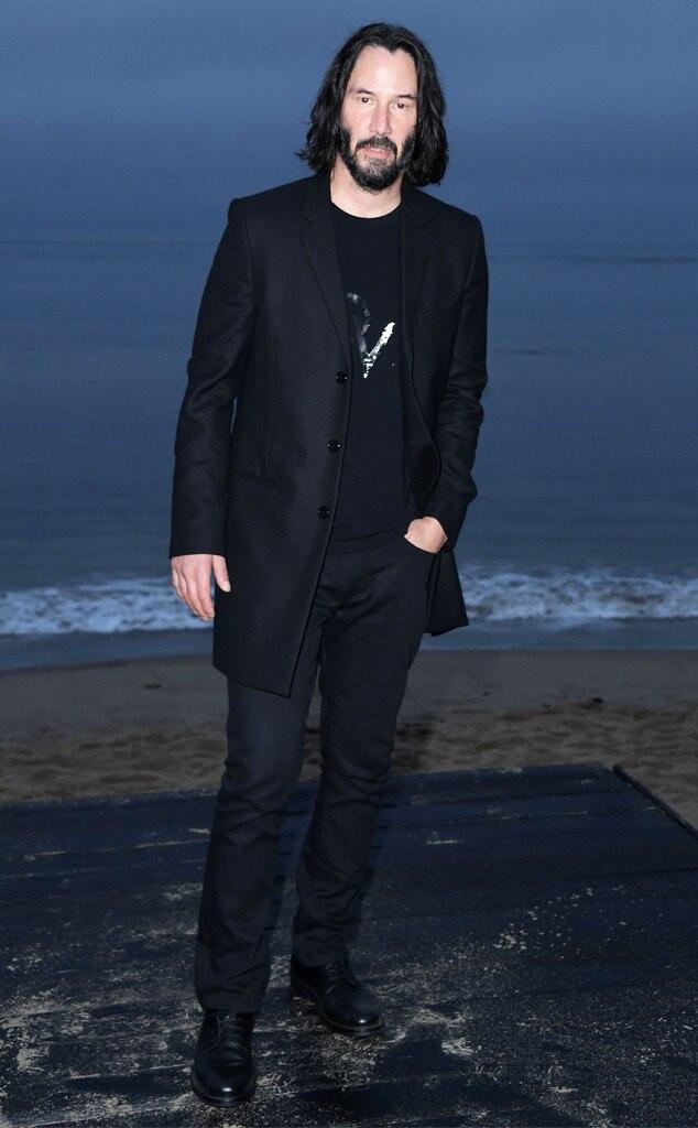 Keanu Reeves, Saint Laurent Mens Spring Summer 20 Show