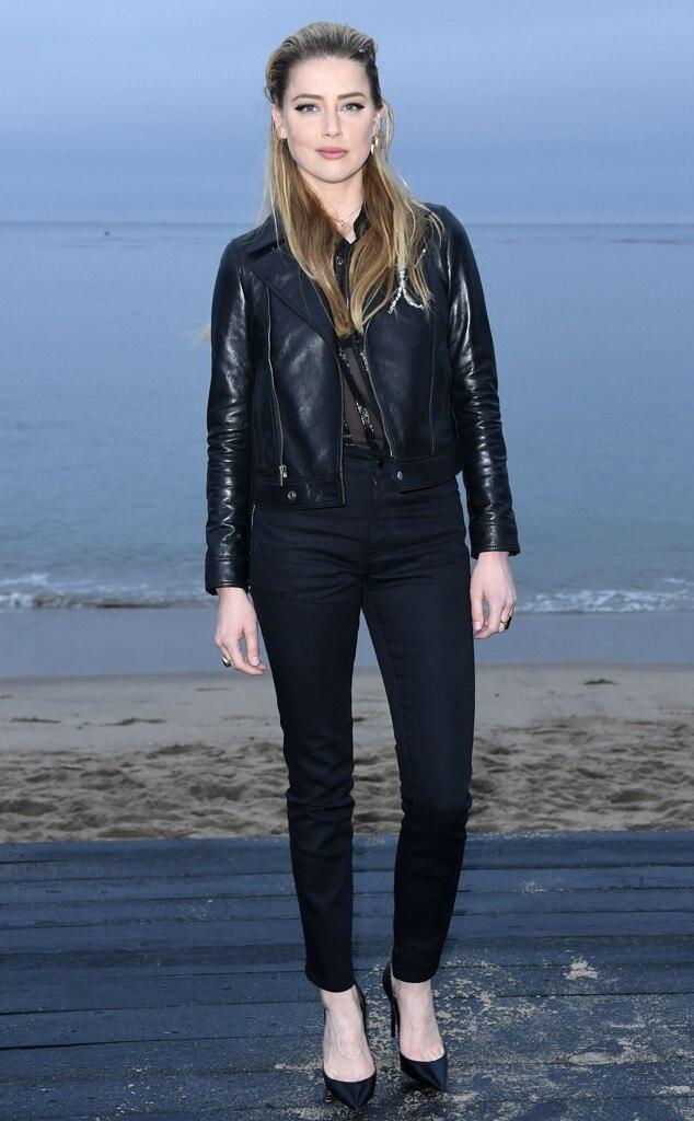 Amber Heard, Saint Laurent Mens Spring Summer 20 Show