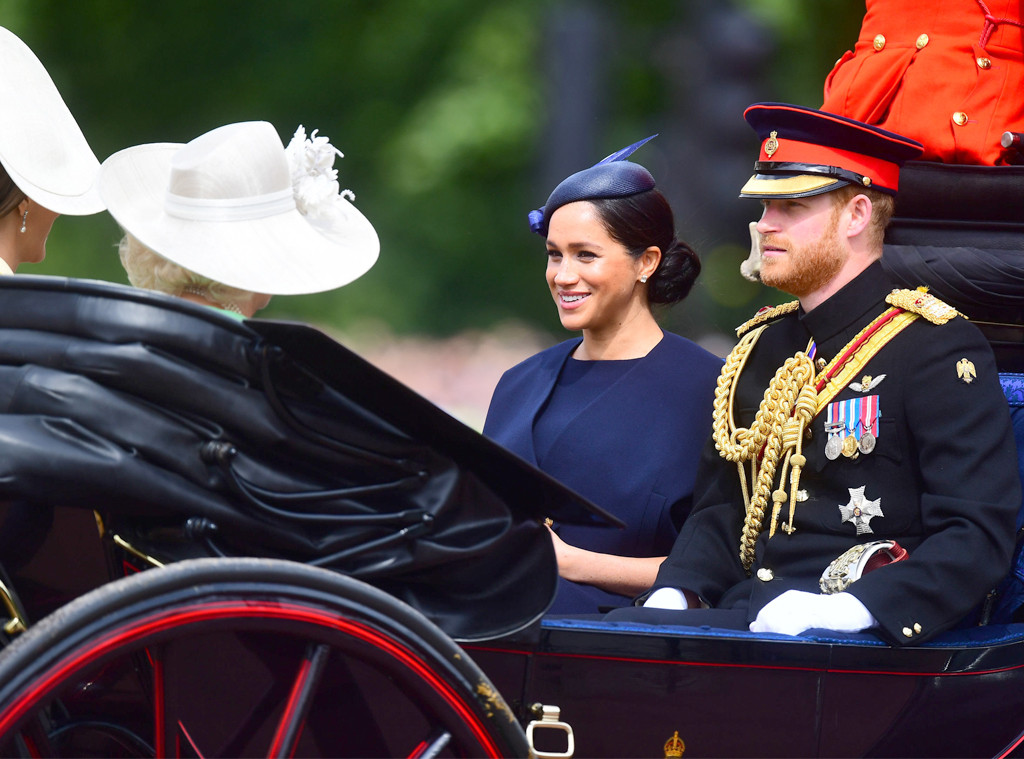 Trooping the Colour 2019, Prince Harry, Meghan Markle, Kate Middleton, Camilla Bowles