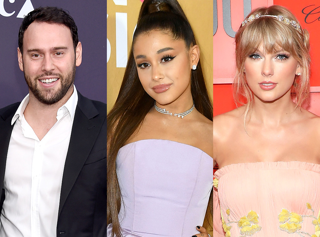 Scooter Braun, Ariana Grande, Taylor Swift