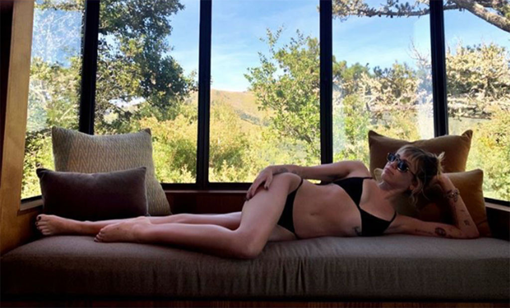 Miley Cyrus Is Ready for Summer in an Itsy Bitsy Black Bikini