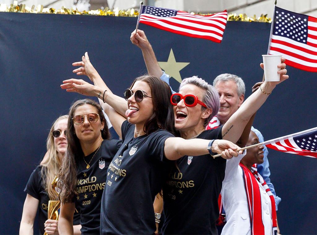 Alex Morgan, Megan Rapinoe, U.S. Women's Soccer Team, Ticker Tape Parade