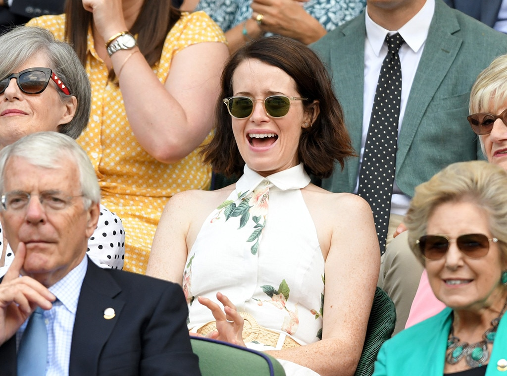 Claire Foy, Wimbledon star sightings