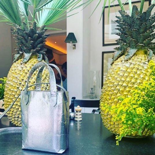 Bolsa, couro de abacaxi