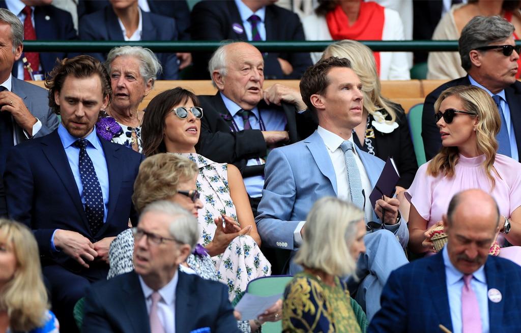 Tom Hiddleston, Sophie Hunter, Benedict Cumberbatch, Katherine Jenkins, 2019 Wimbledon