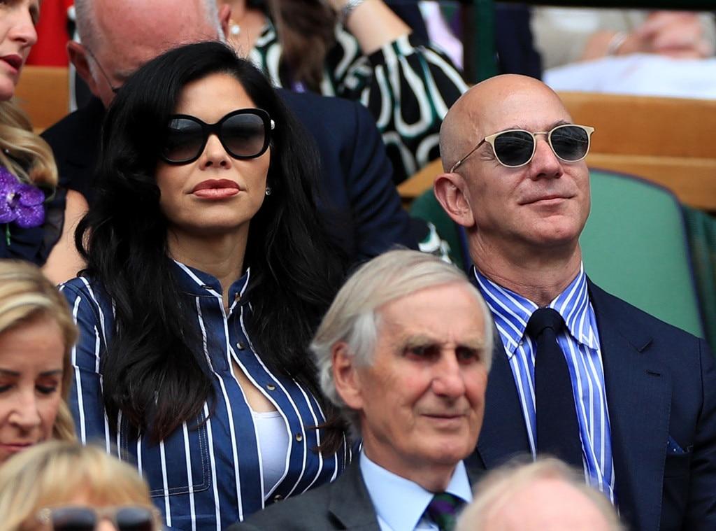 Jeff Bezos, Lauren Sanchez, 2019 Wimbledon