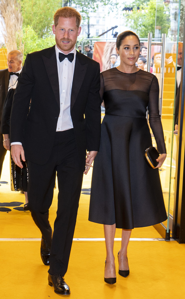 The Lion King London Premiere, Prince Harry, Meghan Markle, Duchess of Sussex