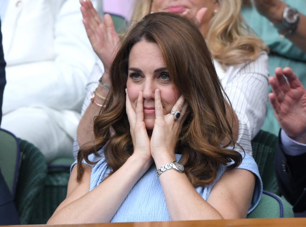 Kate Middleton, Wimbledon Tennis Championships 2019, Facial Expressions at Wimbledon