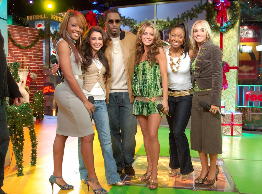Sean Combs, Dawn, Aundrea, Aubrey O'Day, Tiffany, Shannon, Danity Kane