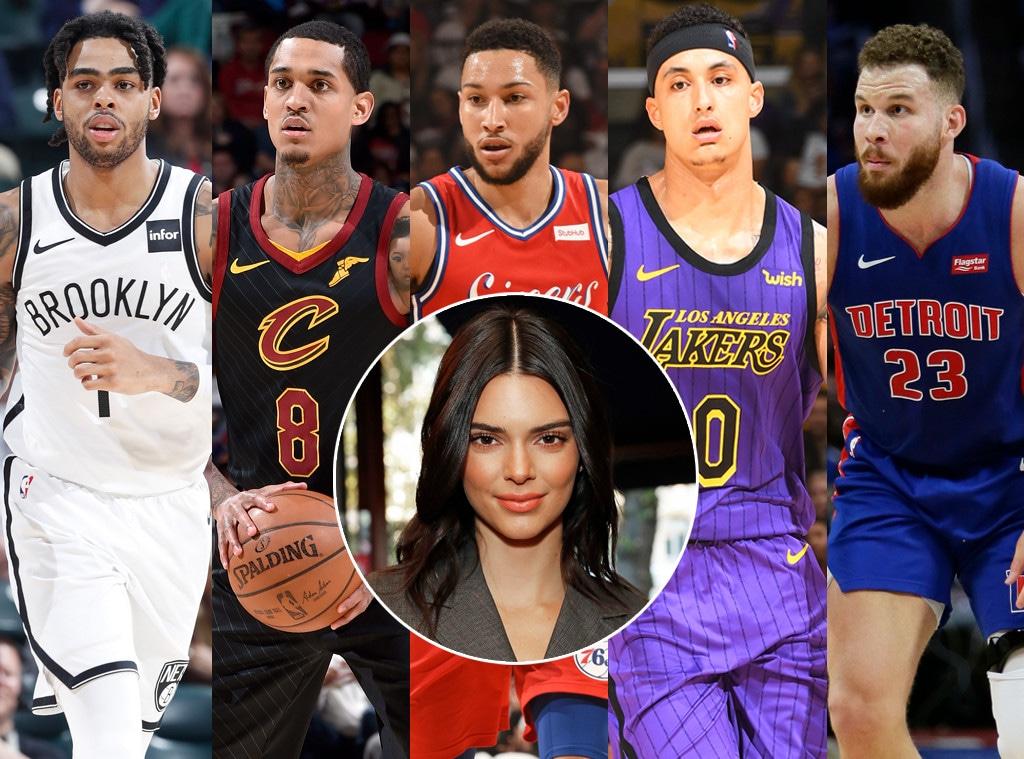Kendall Jenner, D'Angelo Russell, Jordan Clarkson, Ben Simmons, Kyle Kuzma and Blake Griffin
