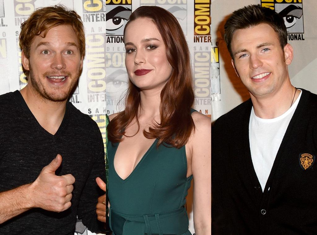 Chris Pratt, Brie Larson, Chris Evans, Marvel at Comic-Con