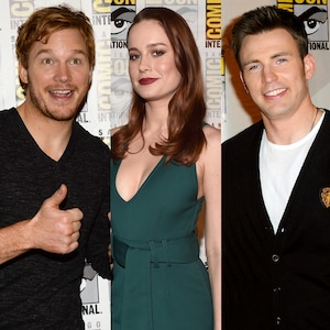 Chris Pratt, Brie Larson, Chris Evans, Marvel at Comic-Con