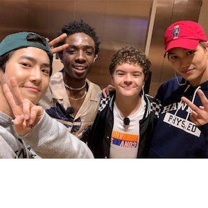 "Kai, Suho, Caleb McLaughlin, Gaten Matarazzo, ""Stranger Things 3"""