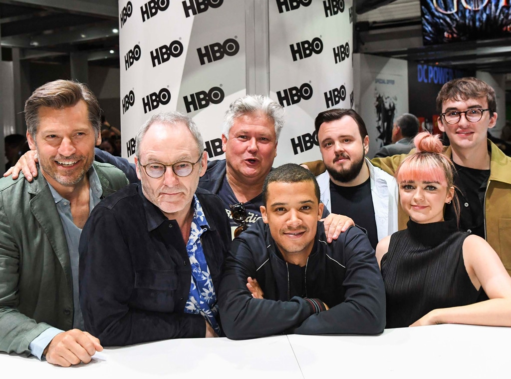Nikolaj Coster-Waldau, Jacob Anderson, John Bradley, Maisie Williams, Isaac Hempstead, Game of Thrones, Comic-Con 2019