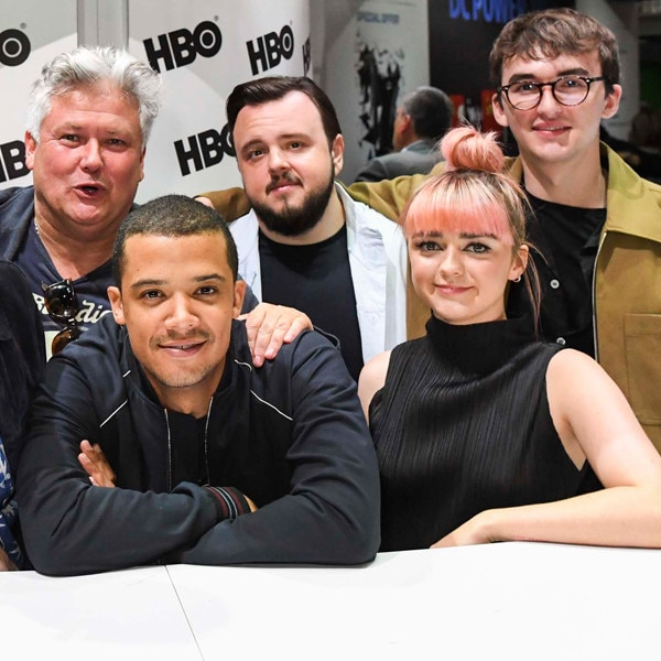 Jacob Anderson, John Bradley, Maisie Williams, Isaac Hempstead, Game of Thrones, Comic-Con 2019
