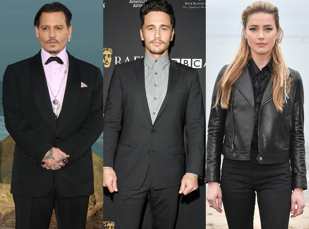 Johnny Depp, James Franco, Amber Heard