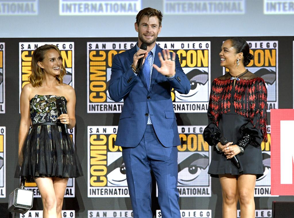 Natalie Portman, Chris Hemsworth, Tessa Thompson, Comic-Con 2019