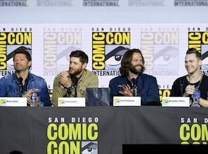 Misha Collins, Jensen Ackles, Jared Padalecki, Alexander Calvert, 2019 Comic-Con