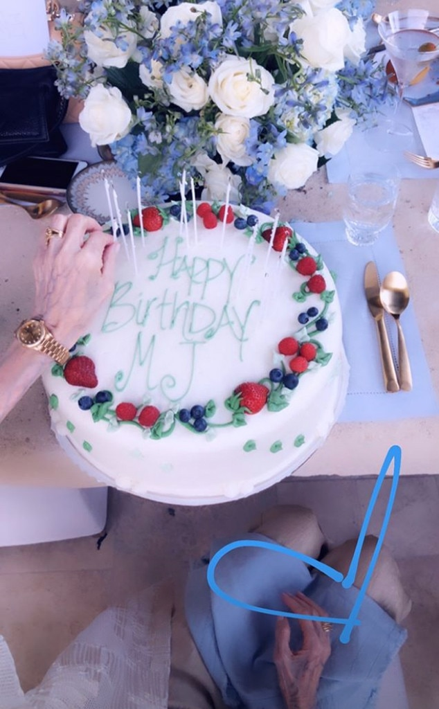 Brilliant Cake Time From Kardashians Grandmother Mjs 85Th Birthday Party Funny Birthday Cards Online Kookostrdamsfinfo