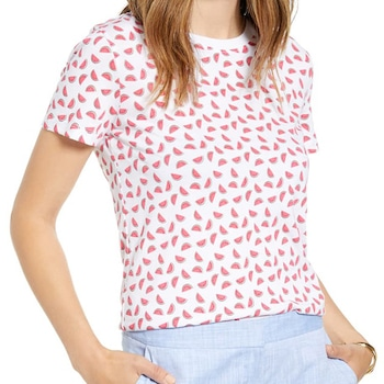 E-comm: National Watermelon Day - Watermelon Graphic Cotton Blend Tee
