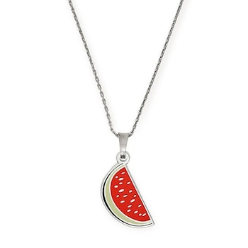 E-comm: National Watermelon Day -  One in a Melon Color Infusion Expandable Necklace