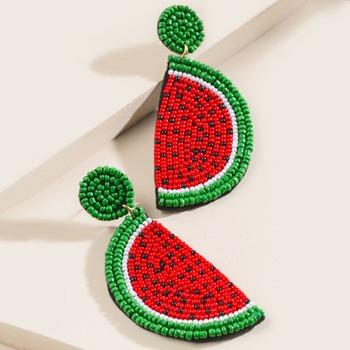 E-comm: National Watermelon Day -  Katelin Watermelon Wedge Statement Earrings