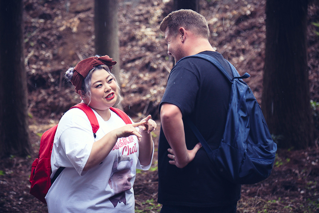 James Corden and Naomi Watanabe meet in the forests of Japan figure out who is the true PITERA Master, SK-II