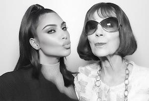 Kim Kardashian, Grandma, MJ, Birthday, Instagram
