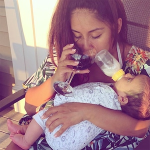 Snooki, Son, Angelo, Breastfeeding, Wine, Instagram