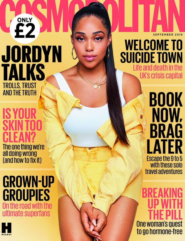 Jordyn Woods, Cosmopolitan UK, Embargoed until 00:01 31st July 2019