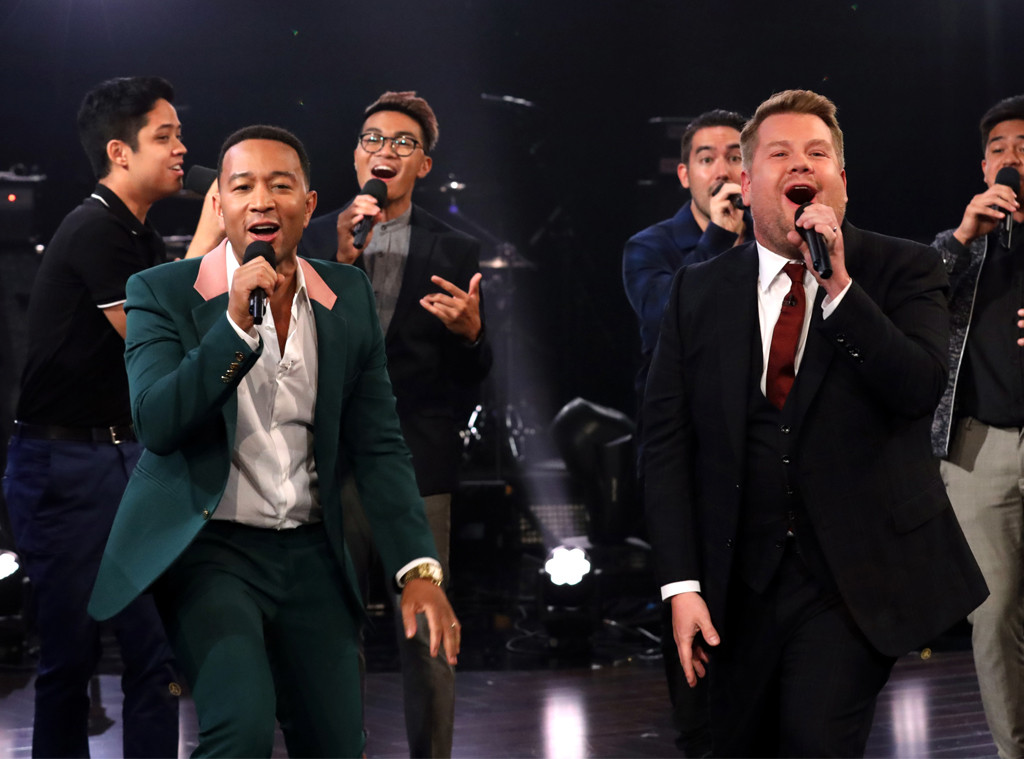 John Legend, James Corden
