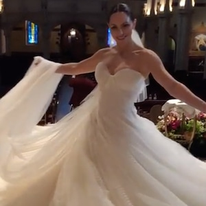 Katharine McPhee, Wedding Dress, Zac Posen