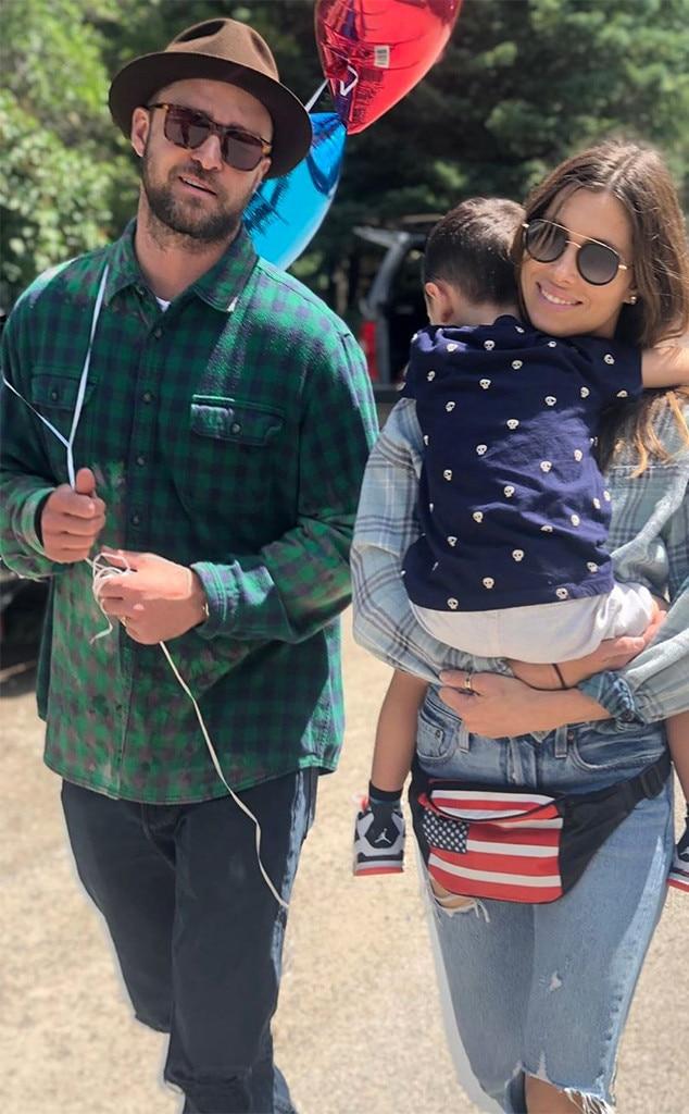 Jessica Biel, Justin Timberlake, Son, Silas, Fourth of July 2019