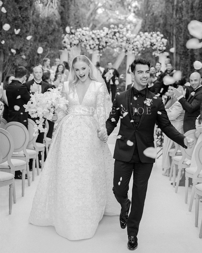 Sophie Turner's bridal gown took over 350 hours to make