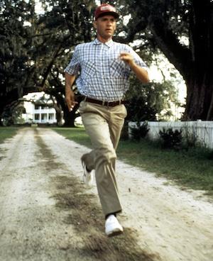 Forrest Gump, Tom Hanks, Running