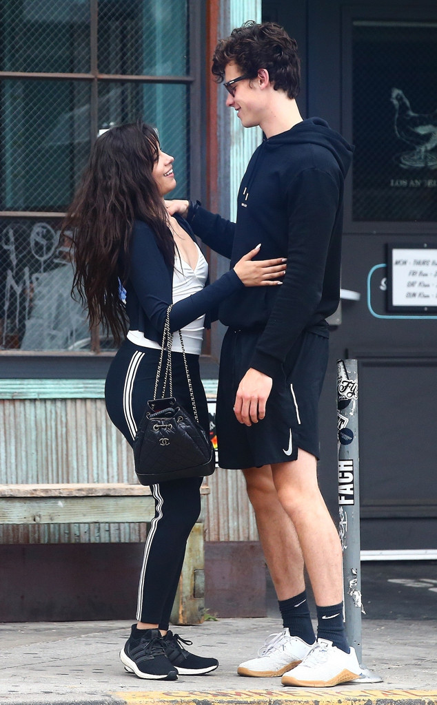 Shawn Mendes Camila Cabello Have A Pda Packed Brunch E Online