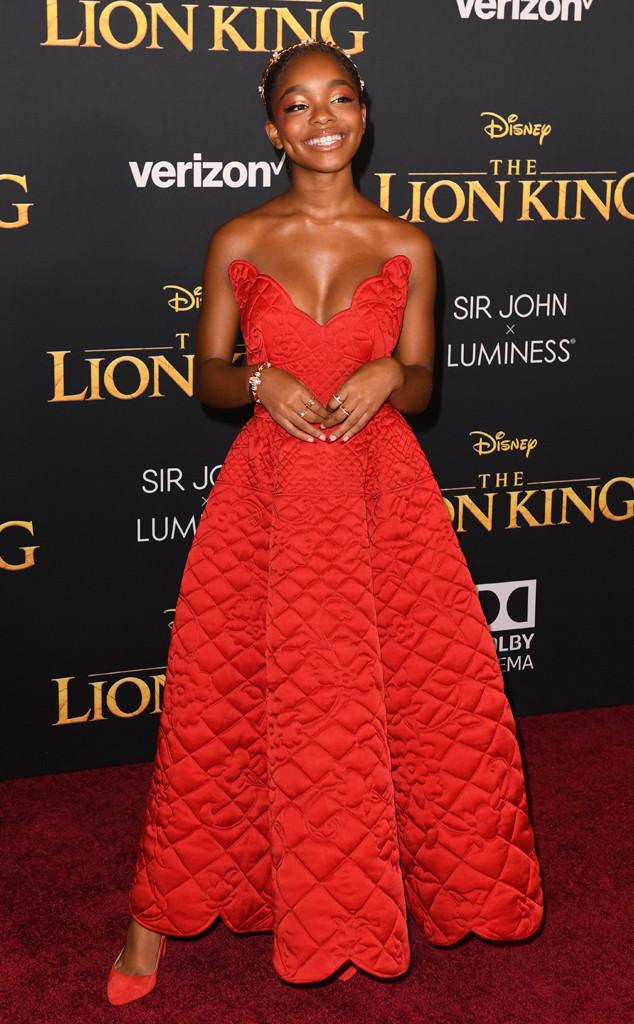 Marsai Martin, The Lion King Premiere, Red Carpet Fashion