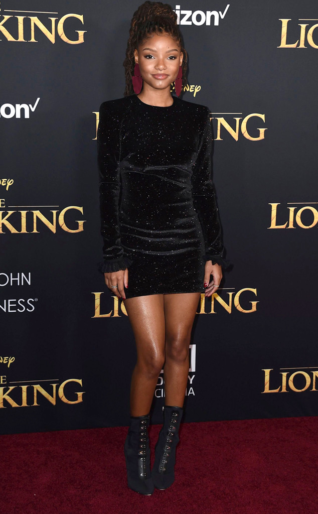 Halle Bailey, The Lion King Premiere, Red Carpet Fashion