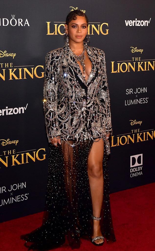 Beyonce, The Lion King Premiere, Red Carpet Fashion, 2019, Widget