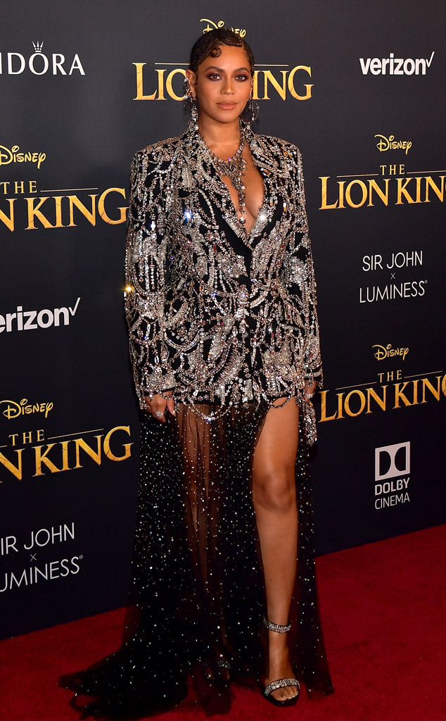 Beyonce, The Lion King Premiere, Red Carpet Fashion, 2019, Widget