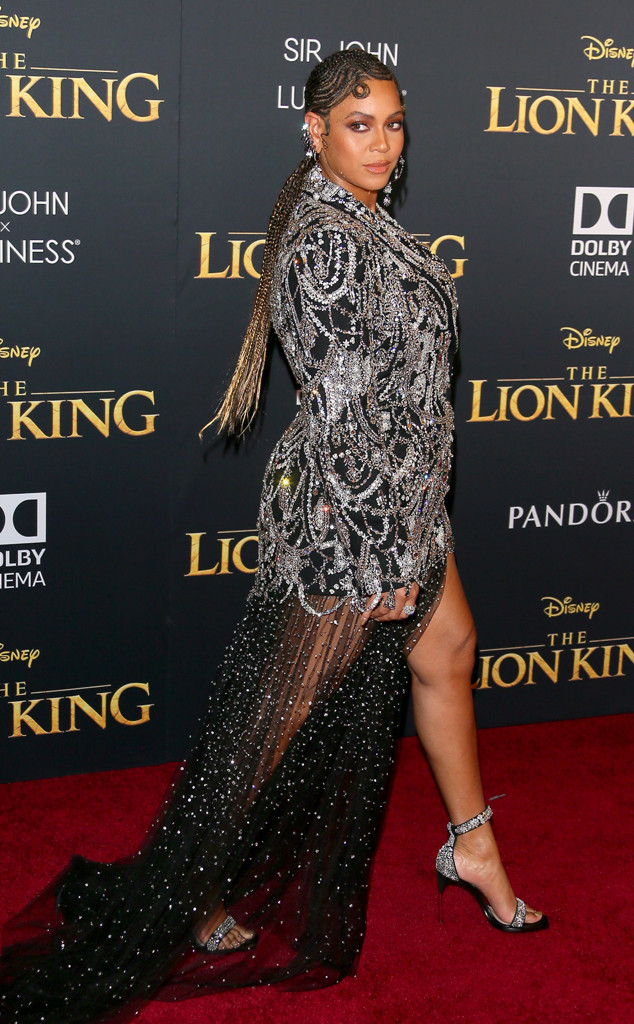 Beyonce Knowles, The Lion King Premiere, Red Carpet Fashion