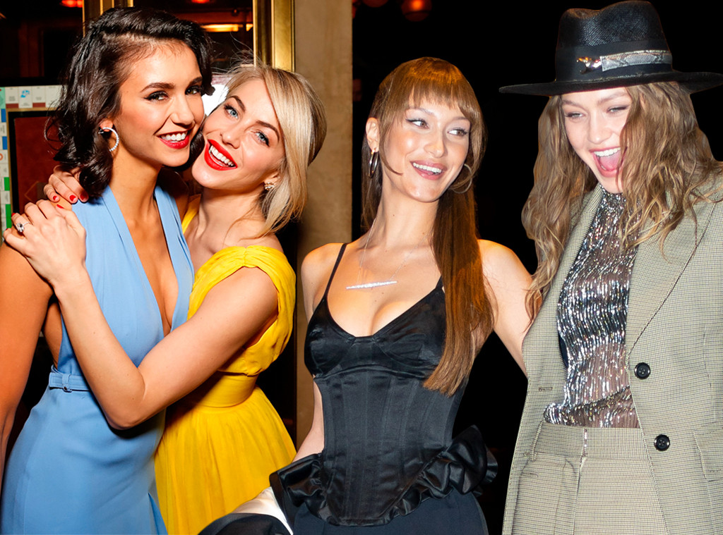 E-Comm: Best Friends Day and Sisters Day, Julianne Hough, Nina Dobrev, Gigi Hadid, Bella Hadid