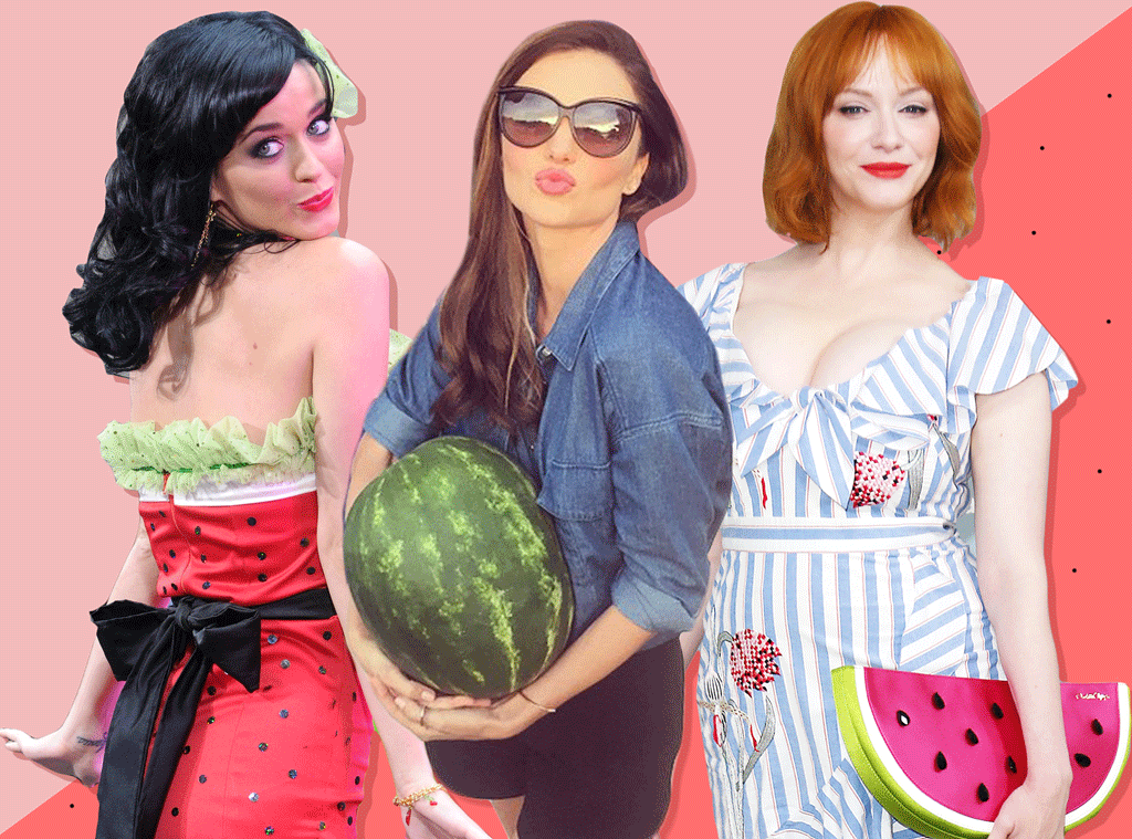 E-Comm: Watermelon Day, Katy Perry, Miranda Kerr, Christina Hendricks
