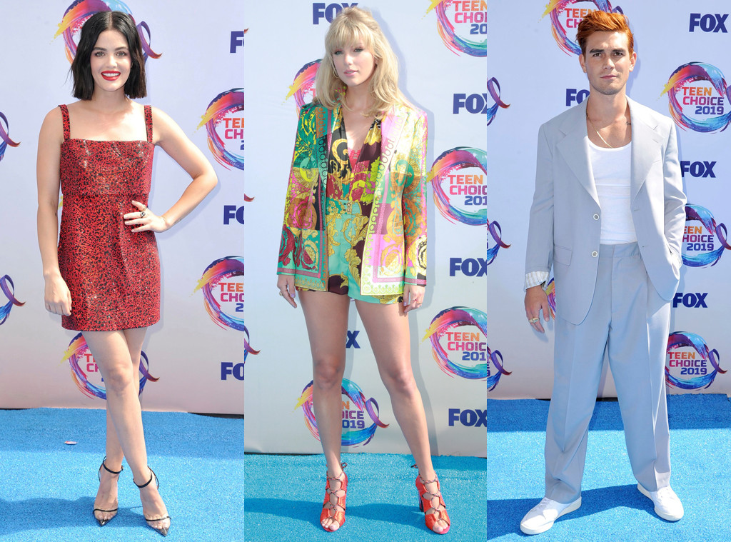 Lucy Hale, Taylor Swift, KJ Apa, 2019 Teen Choice Awards, Arrivals
